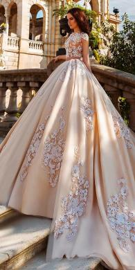 24 Awesome Ball Gown Wedding Dresses You Love   Wedding Dresses Guide princess cap sleeved blush ball gowns wedding dresses crystal designe