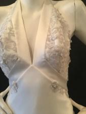 Satin halter neck dress by David fielden. Good condition. size 14.