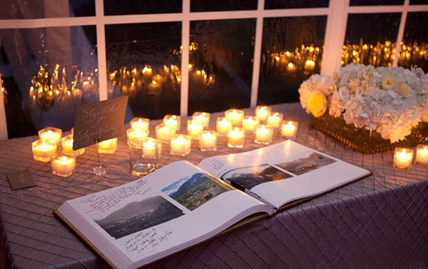How To Decorate The Guest Book Table