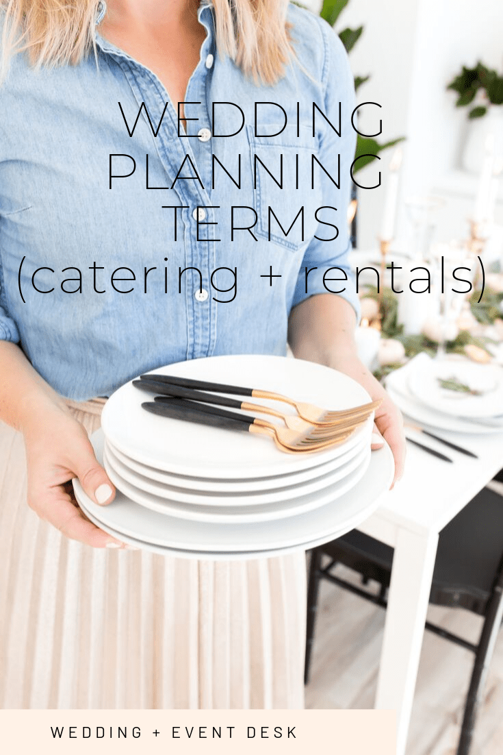 wedding planning terms
