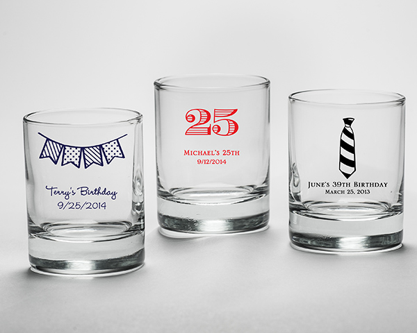 Personalized Birthday Shot Glass Favors