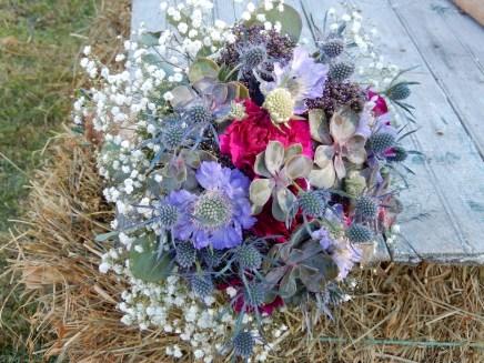 Succulent bridal bouquet