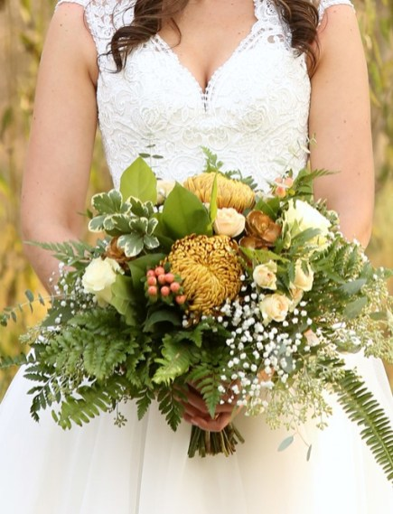 Bronze, Fall color Bridal Bouquet