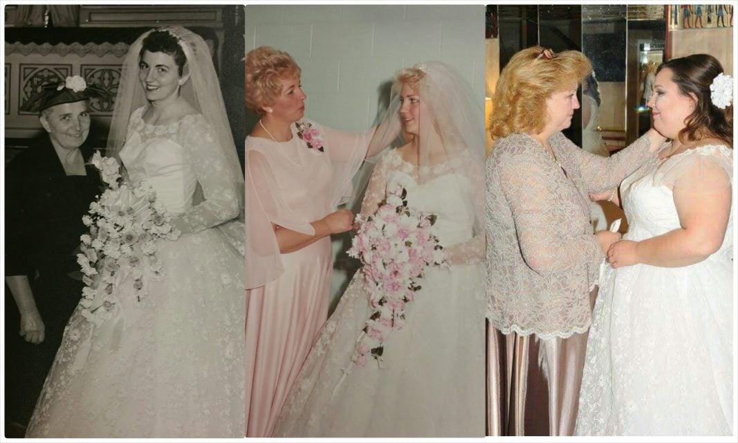 Kristen's Wedding Gown Restoration In Ohio