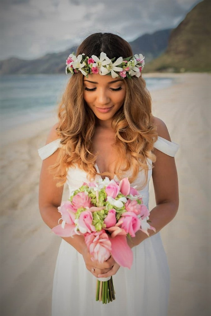 beach wedding hairstyle should withstand the wind - wedding