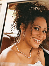 Cute Curly African American Wedding HairstylePNG