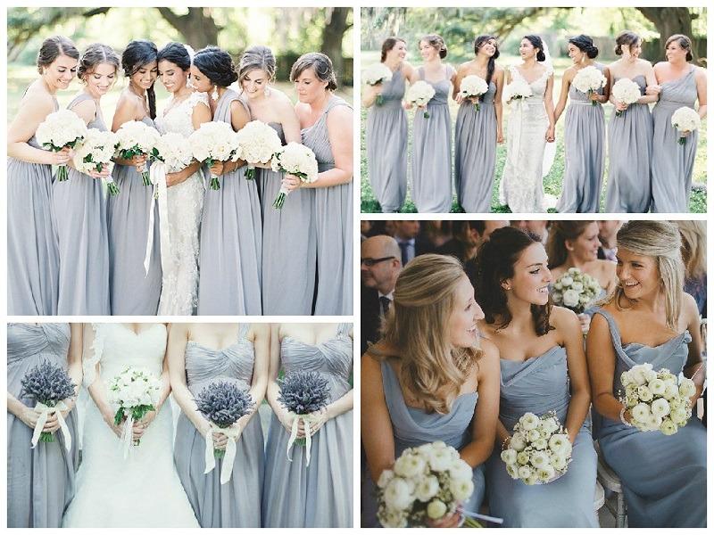 Shades Of Grey Bridesmaid Dresses