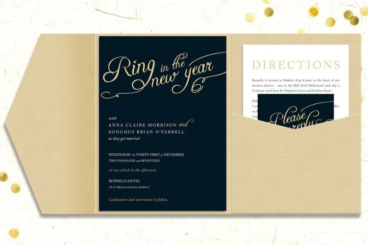 New Years Eve Wedding Ideas Invitation Photo Provided By