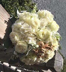 wedding bridal bouquet OBX Outer banks flowers