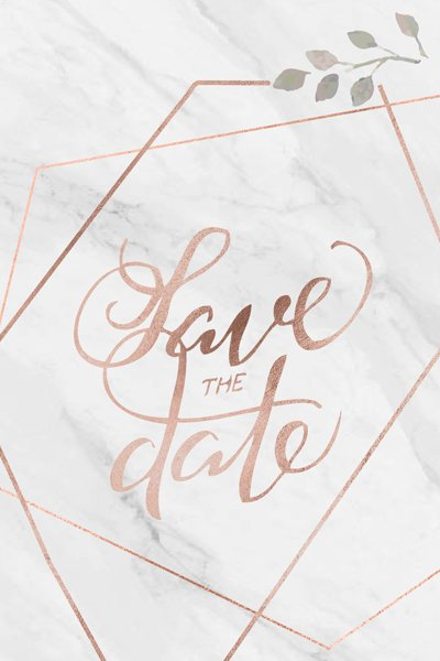 anteprima testo save the date - handlettering rose-gold