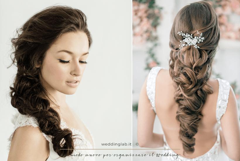 Acconciature sposa: capelli lunghi con treccia morbida