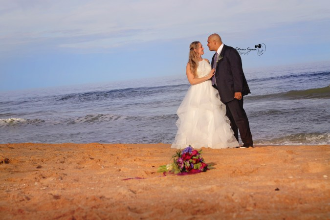 Beach wedding photography and bridal portraits in Florida