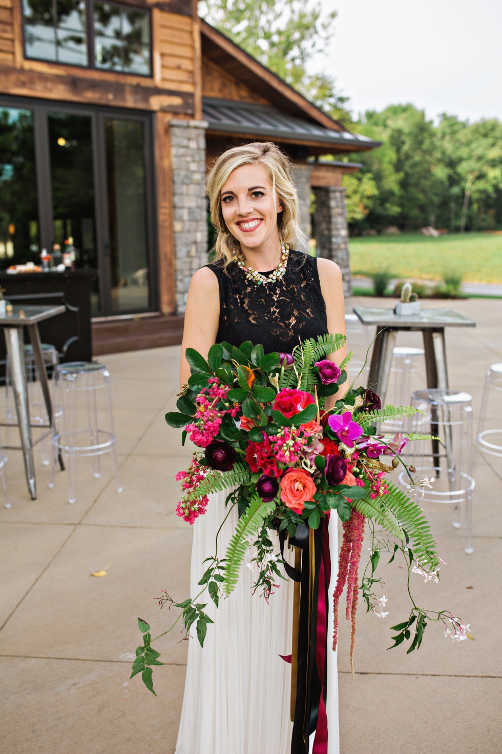 Luxe Bohemian Outdoor Wedding at Graystone Quarry Nashville Tennessee