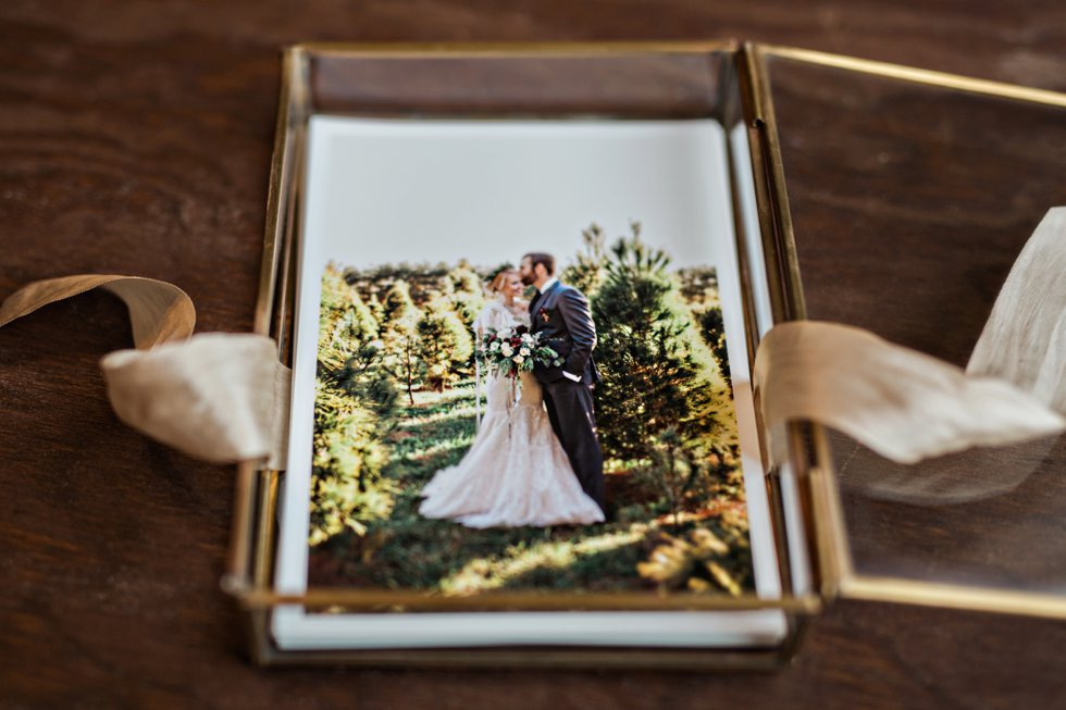 Glass Photo Box Gold Heirloom Nashville Wedding Photographer