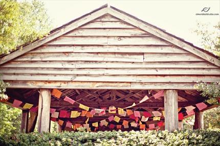 wedding banner photo by almond leaf studios via emmaline bride