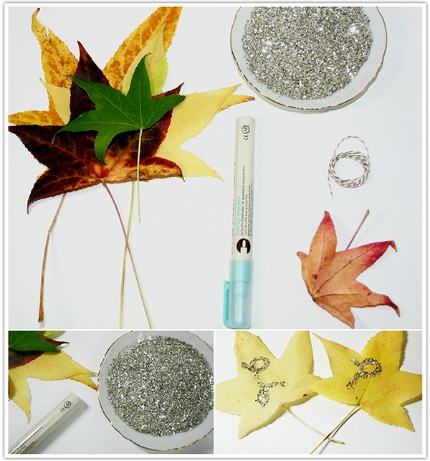 German Glass Glitter Leaves via Limn & Lovely