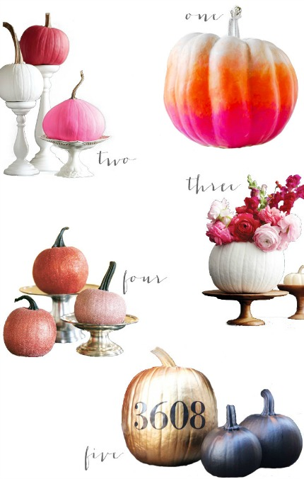 Modern Wedding Inspiration: DIY Pumpkins via Modernly Wed