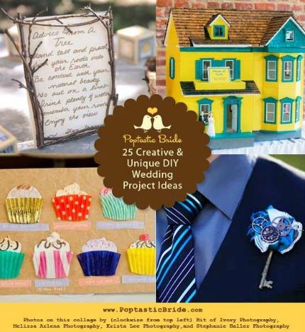 25 diy wedding projects via poptastic bride