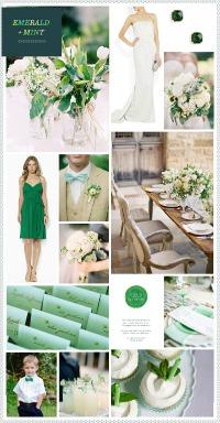 Emerald and Mint Inspiration Board via Board