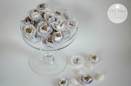 DIY Paper Wedding Flowers via Pane, Amore,e Creativa