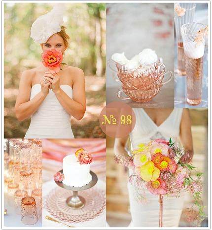 pink depression glass wedding inspiration via limn & lovely