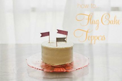 Cake Flag Toppers polkadotbride.com