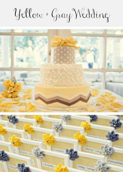 Yellow and Gray Wedding diybride.com
