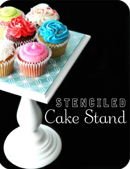 Cupcake Stand Stenciled via The House of Smiths