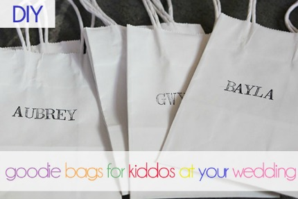 DIY Goodie Bags for Kids at Weddings via Oh Lovely Day