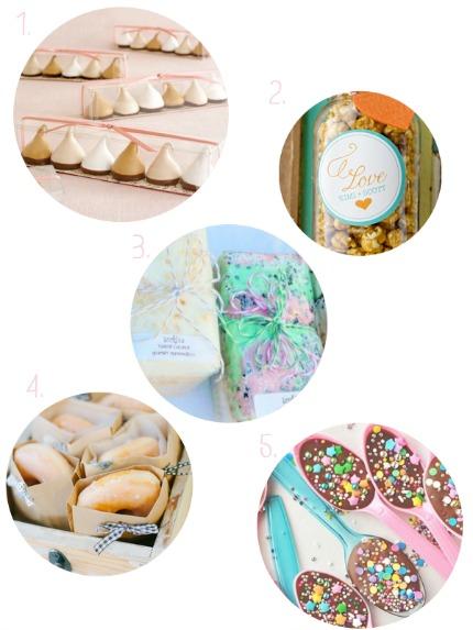 Sweet Wedding Favor Ideas via The Bijoux Bride