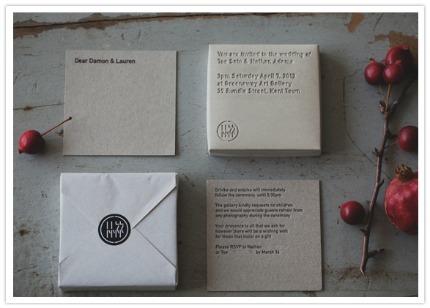 Concrete Wedding Invitations via 100 Layer Cake