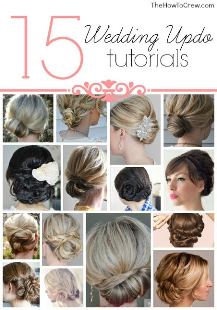 15 Wedding Updo Tutorials via The How to Crew