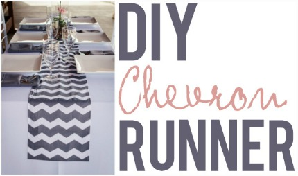 DIY Chevron Runner via Apple Brides