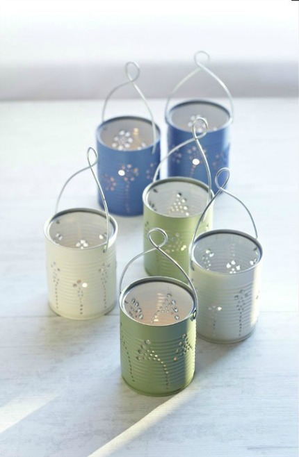 DIY Tin Can Lanterns via Craft Foxes