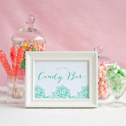 Wedding Candy Bar Printables via My Own Labels