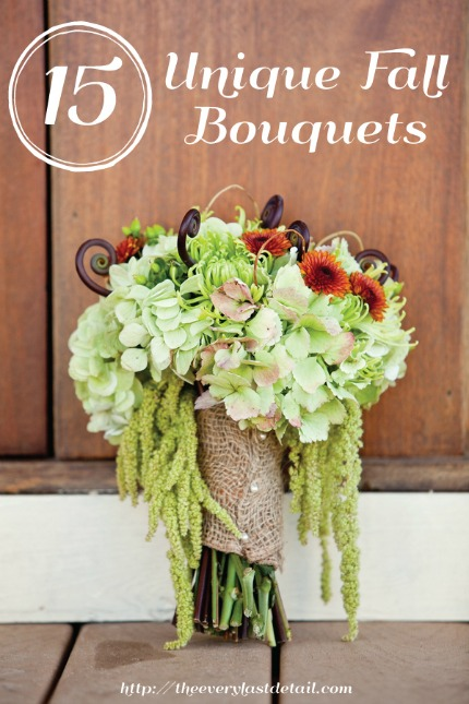 15 Unique Fall Bouquets via Every Last Detail