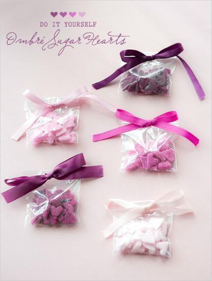 DIY Ombre Sugar Hearts via The Wedding Chicks