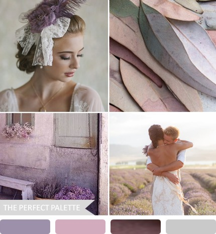 Moody Purple and Gray Fall Wedding Inspiration via The Perfect Palette
