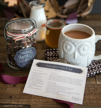 Printable Recipe Cards for Fall Foodie Gifts via Lia Griffith