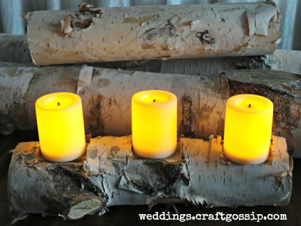 Birch Votive Holder via weddings.craftgossip.com