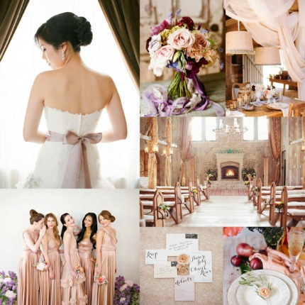 Glittering Mauve and Plum Wedding Inspiration via Elizabeth Anne Designs
