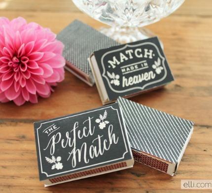 Printable Chalkboard Matchbox Favor Labels via The Elli Blog