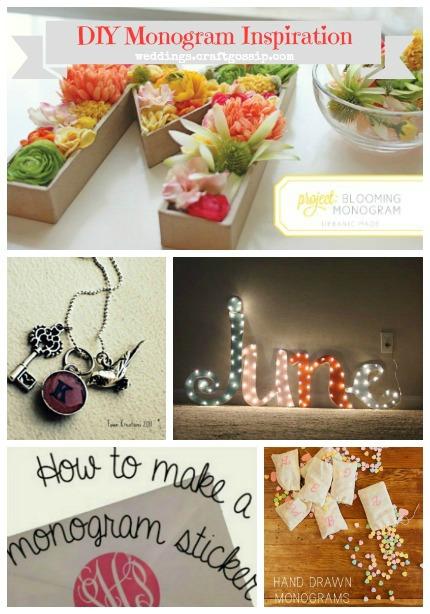 5 Fab DIY Monogram Projects for Weddings