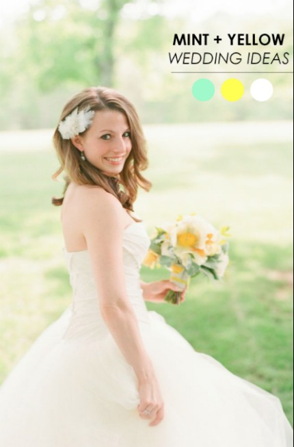 Mint and Yellow Wedding Ideas via The Perfect Palette