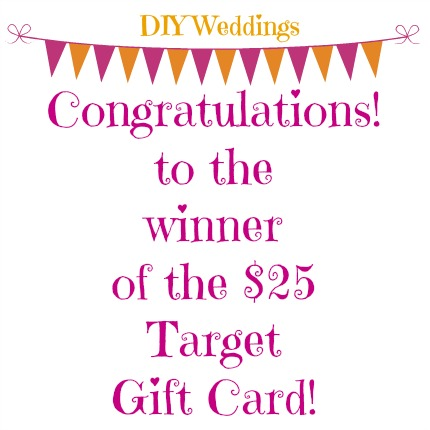 Target Gift Winner from weddings.craftgossip.com