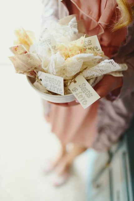 DIY Seed Bomb Wedding Favors via Apple Brides and Park Road Photography