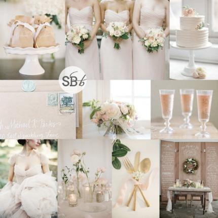 Kraft and Blush Wedding Inspiration vis Southbound Bride