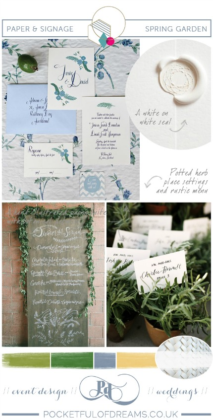 Spring Garden Wedding Inspiration via Pocketful of Dreams