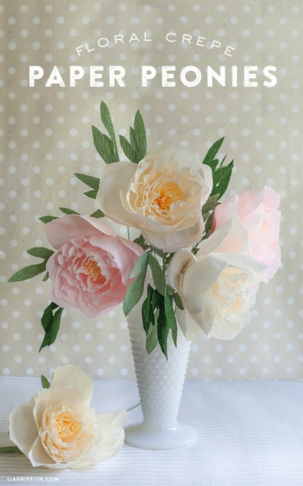 DIY Crepe Paper Peonies via LIa Griffith