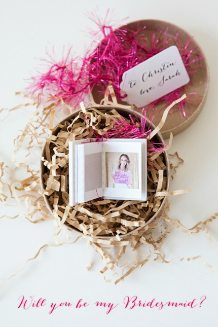 DIY Will You Be My Bridesmaid via Something Turquoise